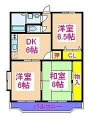 エスポワール21 3階3DKの間取り