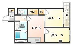 サバーピア581[2階]の間取り