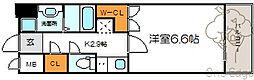 メロディア新北野[5階]の間取り