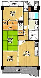 KDXレジデンス夙川ヒルズ 3番館[4階]の間取り