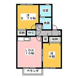 セジュール杉本 B[1階]の間取り