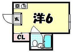 天満橋ハイツ[2階]の間取り
