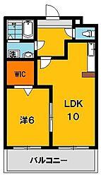 ポワールガーデン1[3階]の間取り