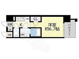 JR東海道・山陽本線 岸辺駅 徒歩5分の賃貸マンション 9階1Kの間取り