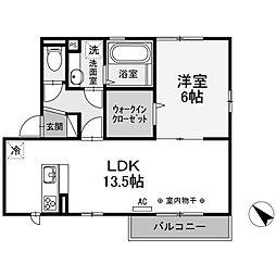 神奈川県相模原市南区東大沼2丁目の賃貸アパートの間取り