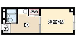 愛知県名古屋市天白区塩釜口2丁目の賃貸マンションの間取り