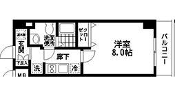 神奈川県横浜市南区永田南1丁目の賃貸マンションの間取り