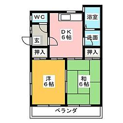 パル デ メゾン 三郷[1階]の間取り