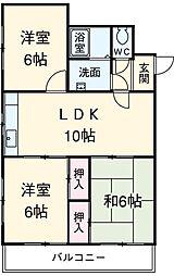 愛知県安城市東明町の賃貸マンションの間取り