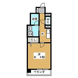 ビエラコート二条[7階]の間取り
