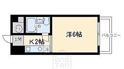 サイト烏丸三条町[3階]の間取り
