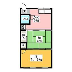 メゾンいずみ[1階]の間取り