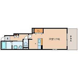 静岡県静岡市駿河区有東1丁目の賃貸アパートの間取り