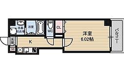 Kalmia北梅田 6階1Kの間取り