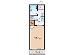 リバーパークA[2階]の間取り