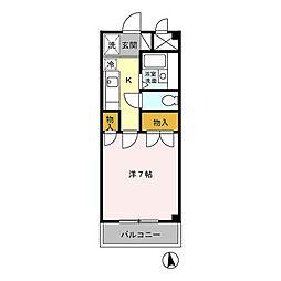 青悠荘[1階]の間取り