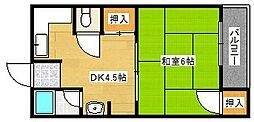 マンションアキラ[3階]の間取り
