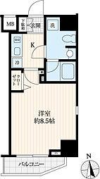 東京メトロ日比谷線 仲御徒町駅 徒歩4分の賃貸マンション 3階1Kの間取り