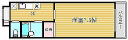 東京都板橋区赤塚1丁目の賃貸マンションの間取り