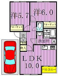 エスポアール[2階]の間取り