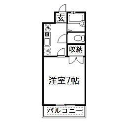 静岡県浜松市南区西町の賃貸アパートの間取り