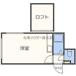 北海道札幌市北区北三十七条西3丁目の賃貸アパートの間取り
