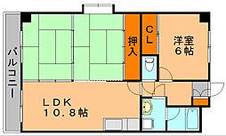 福岡県福岡市博多区相生町3丁目の賃貸マンションの間取り