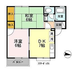 ヴァンプレジール A棟[1階]の間取り