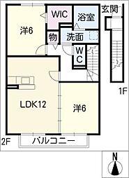 ラフィナート[2階]の間取り