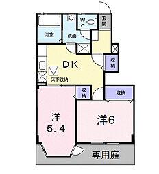 福岡県福岡市早良区東入部1丁目の賃貸アパートの間取り
