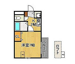 富士ハイツ鳴水[2階]の間取り