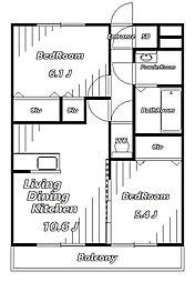 テラスガーデン[3階]の間取り