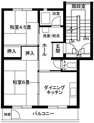 藤沢円行[4階]の間取り