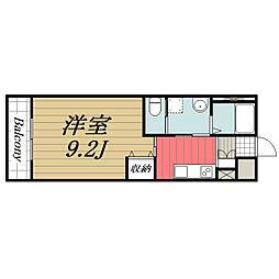 JR総武本線 佐倉駅 徒歩18分の賃貸マンション 1階1Kの間取り
