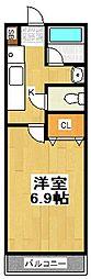 埼玉県越谷市大字南荻島の賃貸アパートの間取り