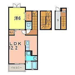 クオーレ山神[3階]の間取り