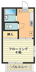 東京都昭島市緑町3丁目の賃貸アパートの間取り