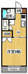シングルハイツ濱口3[203号室]の間取り