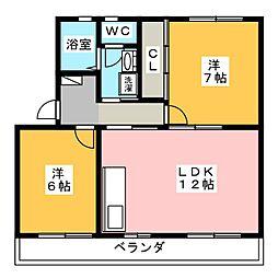 上島マンション[2階]の間取り