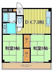 アーネスト大江[3階]の間取り