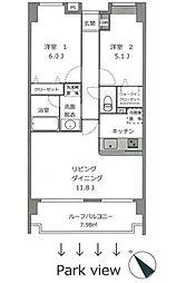 ラメール横浜[10階]の間取り