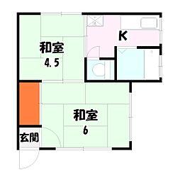 第一戸張荘[101号室]の間取り