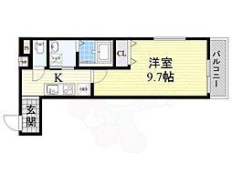 Osaka Metro今里筋線 だいどう豊里駅 徒歩6分の賃貸アパート 1階1Kの間取り