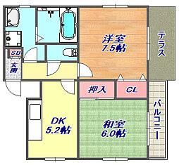 北町栄マンション[1階]の間取り