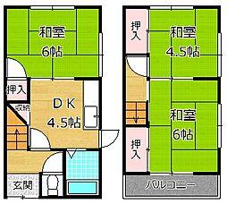 [一戸建] 大阪府枚方市東牧野町 の賃貸【/】の間取り