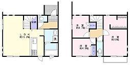 [タウンハウス] 福岡県久留米市原古賀町 の賃貸【/】の間取り