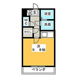 アイユー河田 A棟[3階]の間取り