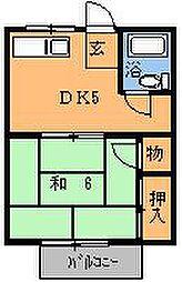コーポ滝口[203号室]の間取り