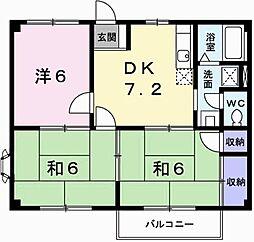エスポワール田寺[02030号室]の間取り