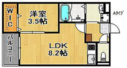 Oence御崎[3階]の間取り